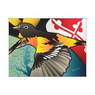 Ciudadano Oriole, pájaro del estado de Maryland Impresión En Lona