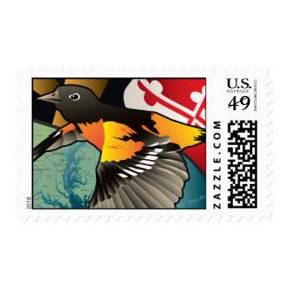 Ciudadano Oriole pájaro del estado de Maryland