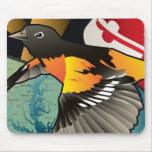 Ciudadano Oriole, pájaro del estado de Maryland Alfombrillas De Raton