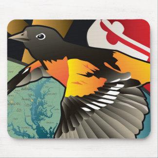 Ciudadano Oriole pájaro del estado de Maryland Alfombrillas De Raton