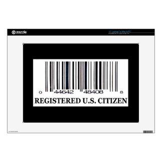 Ciudadano registrado de los E.E.U.U. Skins Para 38,1cm Portátiles