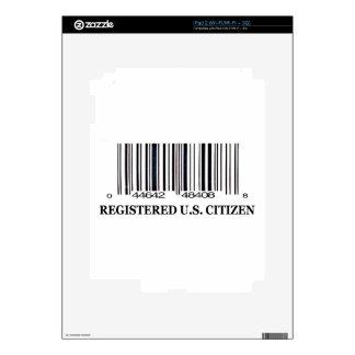 Ciudadano registrado de los E.E.U.U. Skins Para iPad 2