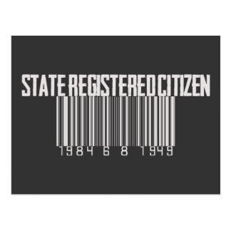 Ciudadano registrado estado tarjetas postales