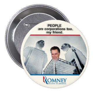 Ciudadano Romney 2012 Pin Redondo De 3 Pulgadas