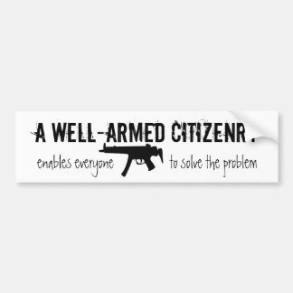 Ciudadanos armados pegatina para auto