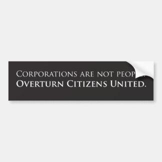 Ciudadanos el vuelco unidos etiqueta de parachoque