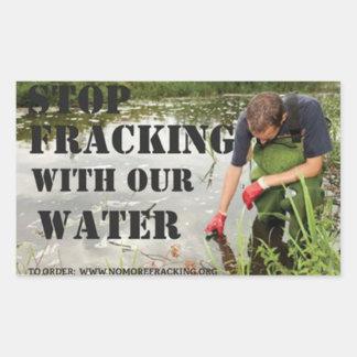 Ciudadanos en cuestión contra Fracking Rectangular Pegatinas