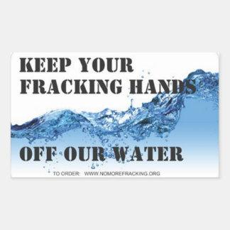 Ciudadanos en cuestión contra Fracking Rectangular Pegatina