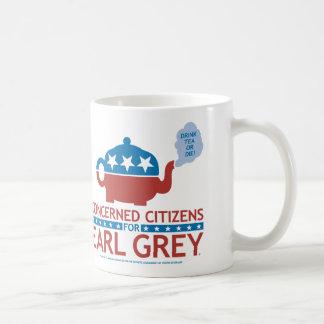 Ciudadanos en cuestión para la taza del gris del c