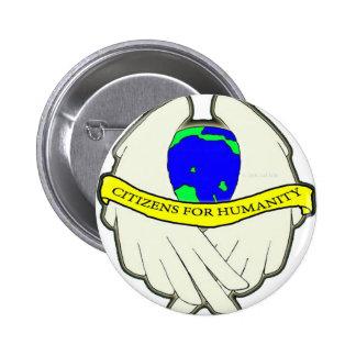 Ciudadanos para el logotipo de la humanidad pin