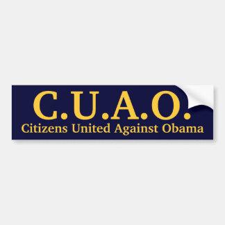 Ciudadanos unidos contra Obama Pegatina Para Auto