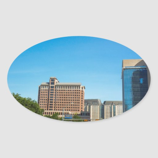 ciudades calcomanía óval personalizadas