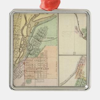 Ciudades de Centralia y de Grand Rapids Ornaments Para Arbol De Navidad