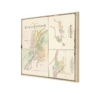 Ciudades de Centralia y de Grand Rapids Impresión En Lienzo Estirada