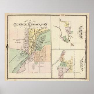 Ciudades de Centralia y de Grand Rapids Impresiones