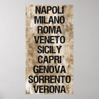 Ciudades de Italia Posters