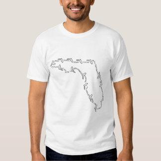 Ciudades de la camiseta de la Florida 001 Poleras