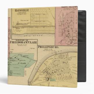 """Ciudades de la libertad y de St Clair con Philipps Carpeta 1 1/2"""""""