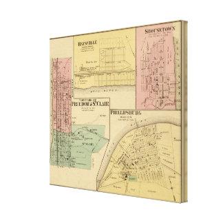 Ciudades de la libertad y de St Clair con Philipps Impresión En Lienzo Estirada