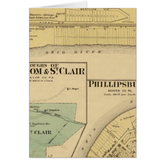 Ciudades de la libertad y de St Clair con Philipps Tarjeta De Felicitación