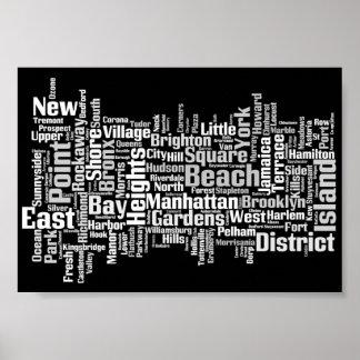 Ciudades de New York City Póster