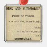 Ciudades del índice, Bronxville Ornamentos De Navidad