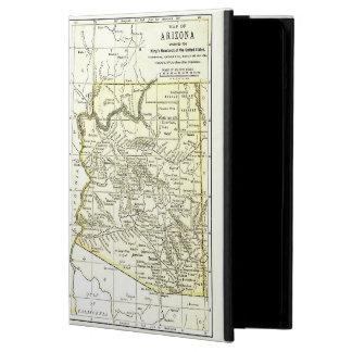 Ciudades del mapa 1891 de Arizona, carril, reserva