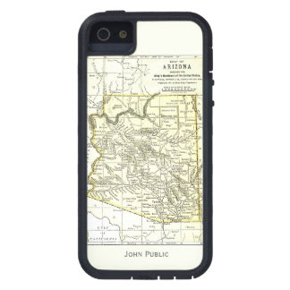 Ciudades del mapa 1891 de Arizona, carril, reserva iPhone 5 Case-Mate Cárcasa