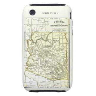 Ciudades del mapa 1891 de Arizona, carril, reserva iPhone 3 Tough Cobertura