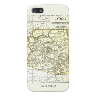 Ciudades del mapa 1891 de Arizona, carril, reserva iPhone 5 Carcasas