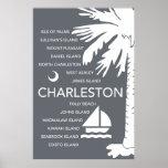 Ciudades del SC de Charleston - carbón de leña Impresiones