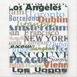 Ciudades en todo el mundo alfombrilla de ratón