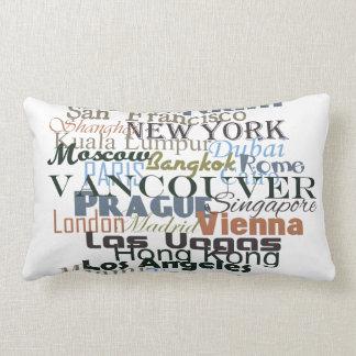 Ciudades en todo el mundo almohadas