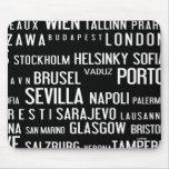 Ciudades europeas alfombrilla de raton