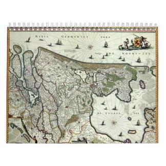 Ciudades holandesas Anno 1652 - versión 2 Calendarios De Pared