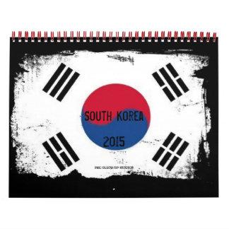 Ciudades importantes de la Corea del Sur Calendario De Pared