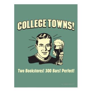 Ciudades universitarias: 2 librerías 300 barras tarjetas postales