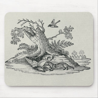 Civet with Cockerel from 'History of Quadrupeds' Mouse Pad