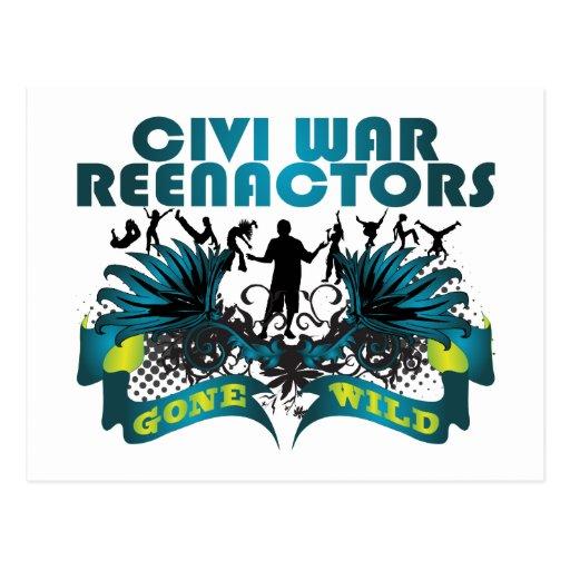 Civi War Reenactors Gone Wild Postcard