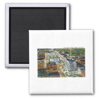 Civic Center, Oklahoma City, Oklahoma 2 Inch Square Magnet