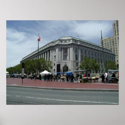 Civic Center Plaza San Francisco Poster