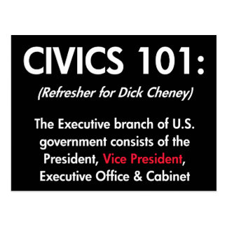 Civics 101 post cards