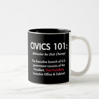 Civics 101 taza de dos tonos