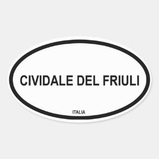 CIVIDALE DEL FRIULI OVAL STICKERS