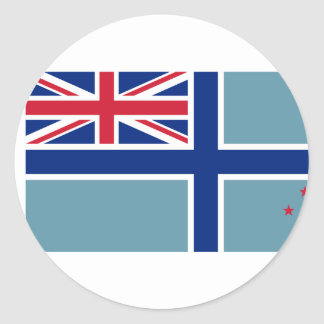 Civil Air Ensign Of New Zealand, New Zealand Classic Round Sticker