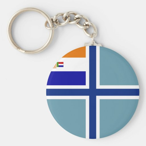 Civil Air Ensign South Africa , South Africa Basic Round Button Keychain