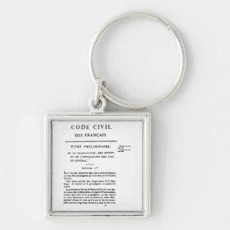 Civil Code of France Keychain