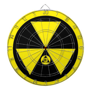 Civil Defense 1960s Fallout Shelter Logo Dartboard