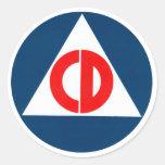 Civil Defense circle Sticker