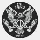 CIVIL DEFENSE CLASSIC ROUND STICKER